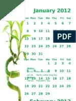 2012 Monthly Calendar Portrait 11
