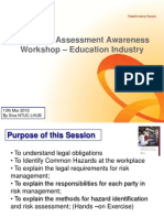 1 Day WSH RA Workshop for ESU .Ppt 13 Mar 12