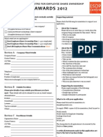 World Centre Awards Application Form 2012