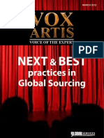 Vox Artis, Voice of Experts - Next & Best Practices of Global Sourcing