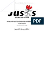 Netzpolitischen Anträge zur Bezirkskonferenz 2012 der Jusos Hannover