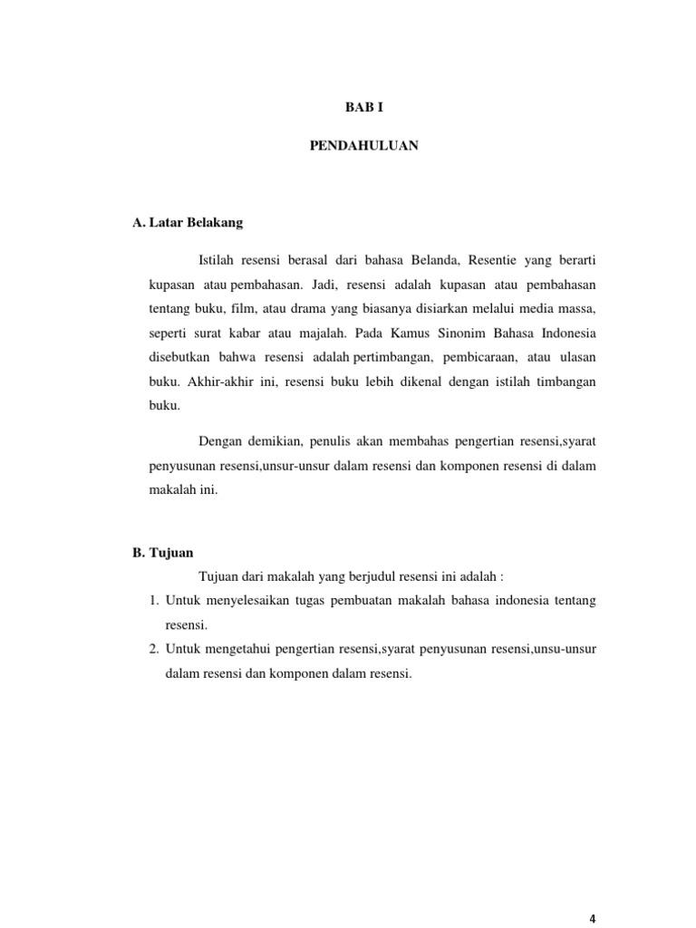 Contoh Resensi Buku Pelajaran Bahasa Indonesia Guru Galeri