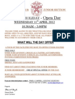 Junior Open Day 2012
