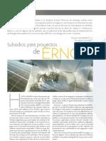 Subsidios Para Proyectos ERNC