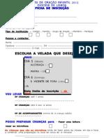 Veladas Ficha Inscrição 2012-Maio
