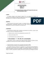 Especificaciones Del Proyecto Final Del Curso de BIOINGENIERIA