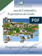 Estándares y Expectativas Matemáticas