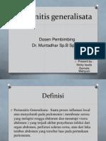 Peritonitis a