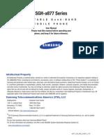 SGH a877MR ATT Impression English User Manual