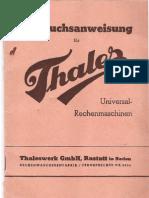 Thales Gebrauchsanweisung_1938