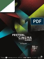 Catalogue 2011 du Festival de Cinéma de la Ville de Québec