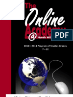 2012-2013 Online Academy Program of Studies