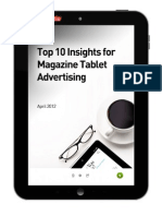Kantar Media Top 10 Insights for Magazine Tablet Advertising