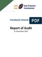 Rapport d'audit de la DPC sur Facebook