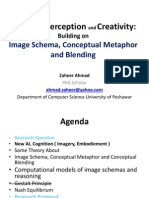 Machine Perception and Creativity Building on Image Schema Conceptual Metaphor and Blending by Zaheer Ahmad Dated 19-05-2011