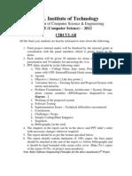 Circular-B.E Project Report Format