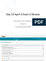 Day 19 April 3 Exam 3 Review