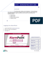 Alarm Point Step 1 - Managing Devices