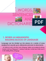 Words Sentences and Dictionaries Group 2updated