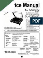 Technics 1200 MK2 Service Manual Supplement)