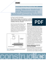 Half Cell Potential Measurements