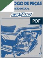 Manual de Despiece Honda CB 400