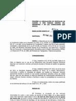 Resolución Exenta 1154 - Restricción Vehicular 2012
