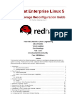 Online Storage Re Configuration Guide