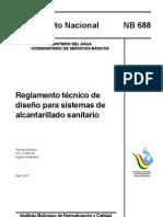 Reglamento Tecnico de Diseño para Sistemas de Alcantarillado