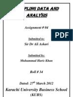 Sampling Data and Analysis