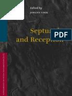 Septuagint and Reception Supplements to Vetus Testament Um