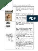 Vocabulario ArtÍstico 20082