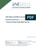 SAP HANA and BOBI 4.0 - Universe Design Guide (Multi Source) V2
