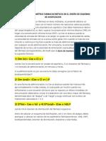 DISEÑO DE ESQUEMAS DE DOSIFICACION