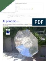 Antena Parabolica Usando Un Paragua