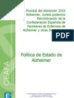 Política de Estado de Alzheimer. CEAFA