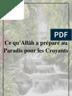 Ce Qu'Allah a Prepare Au Paradis Pour Les Croyants