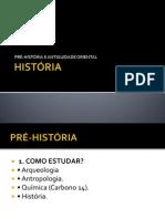 AULA 1 - PRÉ-HISTORIA E ANTIGUIDADE ORIENTAL