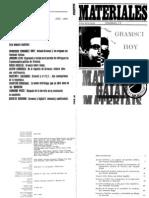 Gramsci hoy. Materiales, extra nº 2, febrero 1978