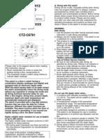 Citizen Instruction Manual C500
