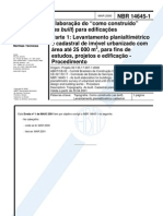 NBR 14645-1 Elaboração projeto As Built para edificações