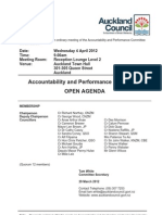 Accountability and Performance Committee April 2012 Part One