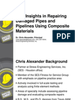 New Insights in Repairing Damaged Pipes and Pipelines Using Composite Materials Chris Alexander