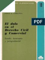 El Dolo en El Derecho Civil y Comercial - Jorge a. Carranza