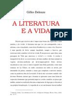Gilles Deleuze a Literatura E a Vida