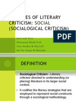 Social Theories of Literary Criticism (1)