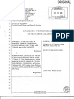 2012-03-26 - Noonan v Bowen - Notice of Related Cases