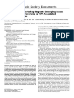 An Official American Thoracic Society Workshop Report Emerging Issues and Current Controversies in Hiv Associated Pulmonary Diseases
