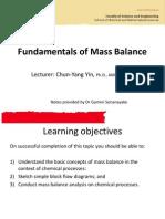 2.Fundamentals of Mass Balance