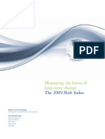 Measuring the Forces of Long-term Change. the 2009 Shift Index